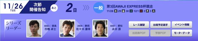 第3回AWAJI EXPRESS杯競走