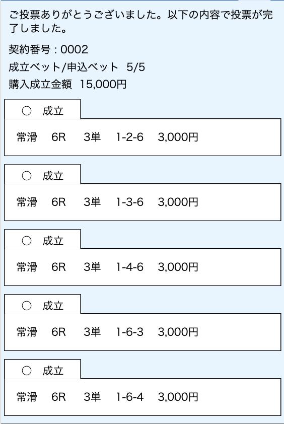 24ボート2019年06月14日有料予想舟券投票画面